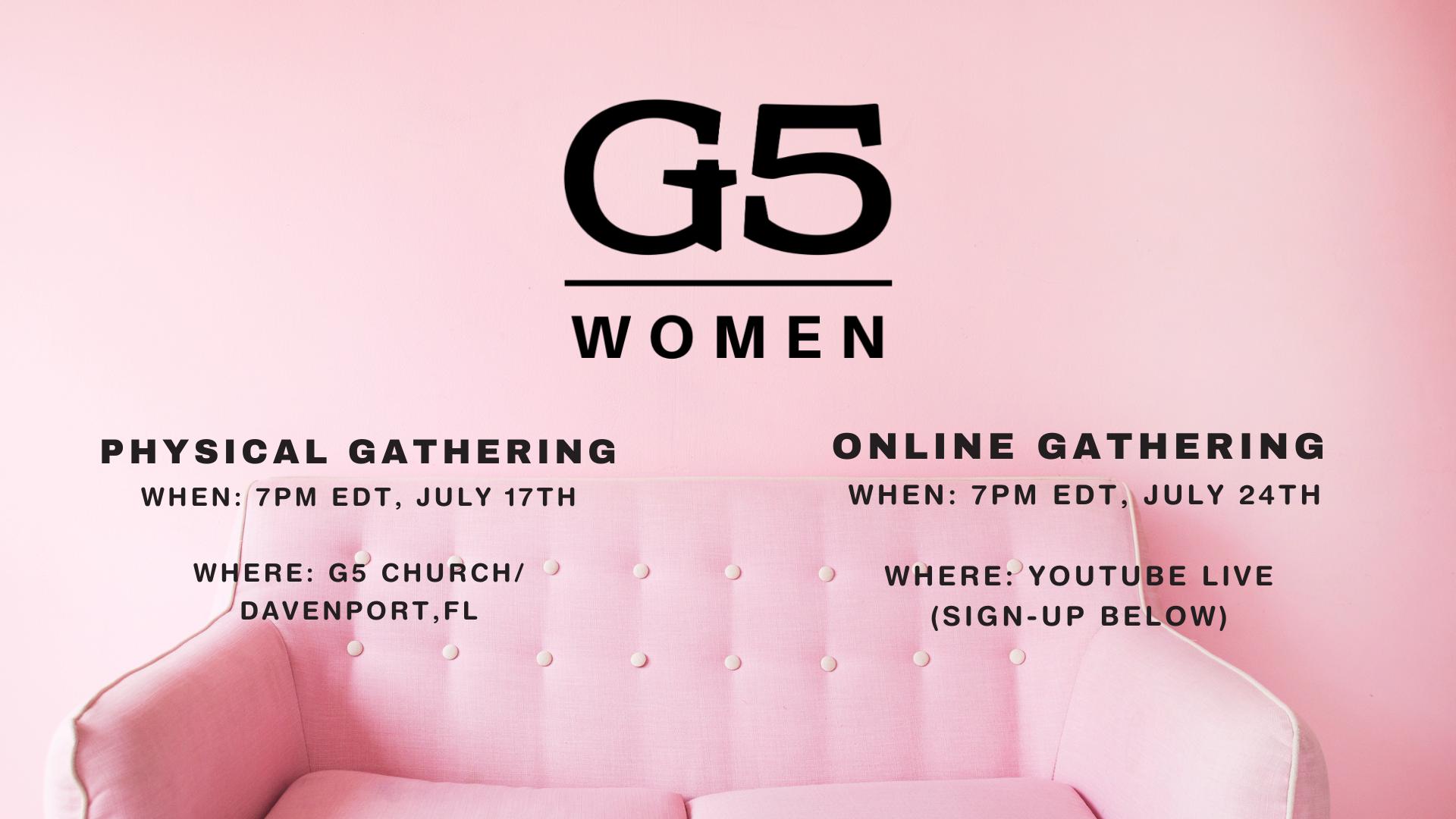 G5 WOMEN PROMO JULY